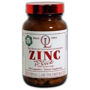 Olympian Labs Zinc Plus, 30mg 100 Capsules (Pack of 2)