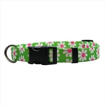 Yellow Dog Design GD103L Green Daisy Standard Collar - Large