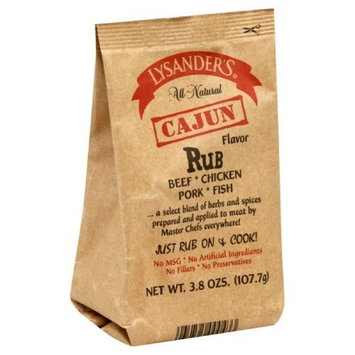 Lysander's Cajun Rub, 3.8-Ounce (Pack of 6)