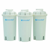 Brondell H2O+ Water Pitcher Filter-Pack of 3, 1 ea