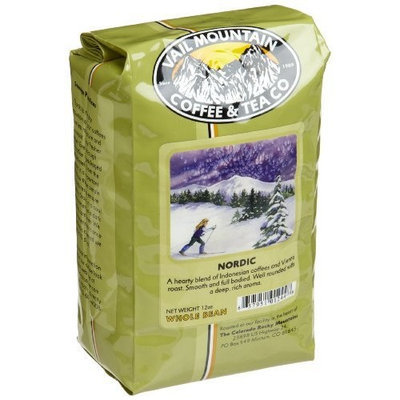 Vail Mountain Coffee & Tea Nordic Blend Whole Bean Coffee, 12-Ounce Bags (Pack of 3)