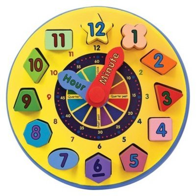 Melissa and Doug Shape Sorting Clock Ages 3+