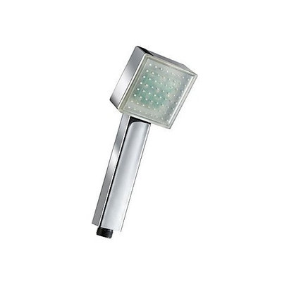 Arctic Contemporary Chrome Square Color Changing LED Hanldheld Shower head