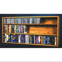 Wood Shed 52 in. Wall Mount DVD Shelves (Clear)