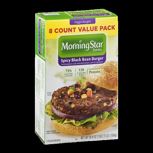 Morning Star Farms Veggie Burgers Spicy Black Bean- 8 CT
