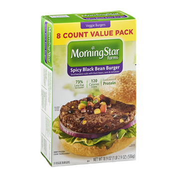 Morning Star Farms Veggie Burgers Spicy Black Bean- 8 CT