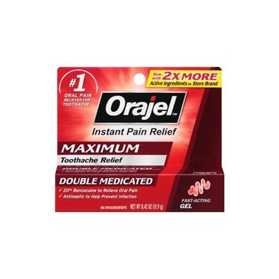 Orajel Toothache Pain Relief Gel, 0.125 oz