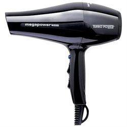 Pibbs Industries Turbo Power 4000BLACK MegaPower 4000 Professional Hair Dryer- Black