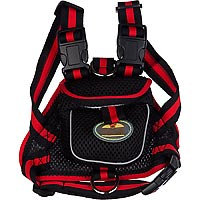 Pet Life Black Backpack Dog Harness, Small ()