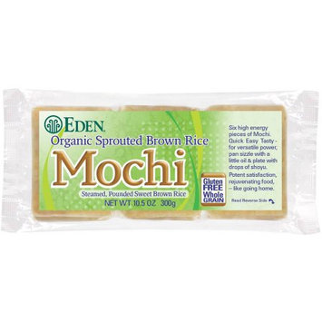 Eden Organic Eden Sprouted Brown Rice Mochi, Organic, 10.5 Ounce (Pack of 5)