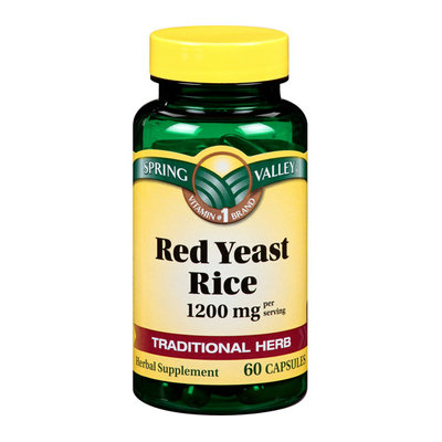 Spring Valley : 60 Capsules 600 Mg Ea. Red Yeast Rice Dietary Supplement