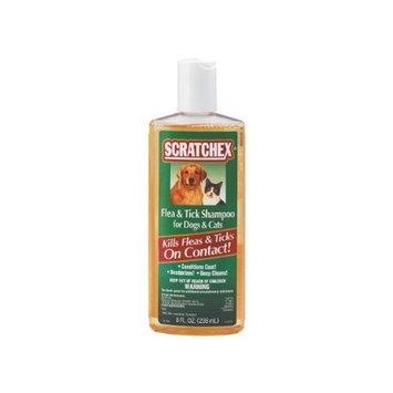 Central Life Sciences Scratchex Flea & Tick Shampoo for Dogs & Cats, 8 oz
