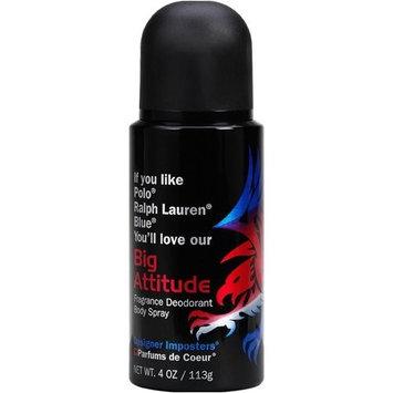 Designer Imposter Big Attitude 4oz oz Deodorant Body Spray