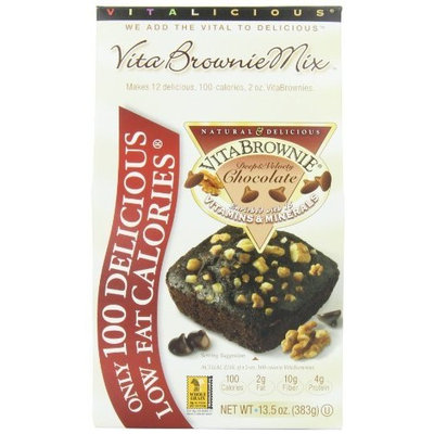 Vitalicious VitaBrownie Mix, Deep & Velvety Chocolate, 13.5-Ounce Packages (Pack of 3)