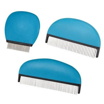 Master Grooming Tools 7-Inch Soft Grip Pet Comb with Rotating Pins, Large
