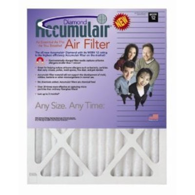 16x20x1 (15.5 x 19.5) Accumulair Diamond 1-Inch Filter (MERV 13) (4 Pack)