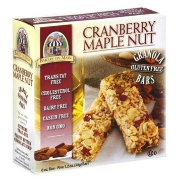 Nature's Best Bakery On Main Cranberry Maple Nut Granola Bars Gluten Free, 1.2000-Ounce (Pack of 12)