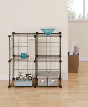 Black Wire Stacking Cube Set