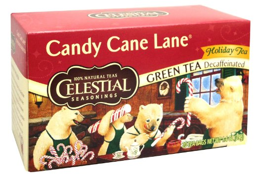 Celestial Seasonings® Candy Cane Lane® Holiday Green Tea Decaffeinated