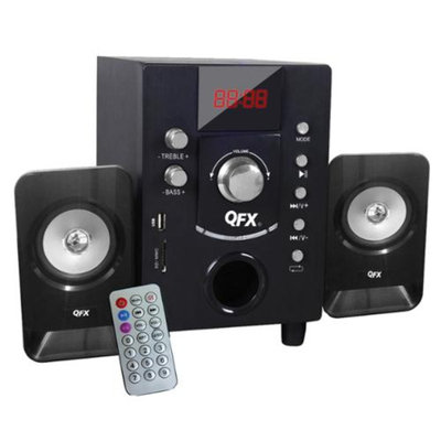 QFX 2.1 Channel NFC Bluetooth Speaker with: USB/SD Port- Black