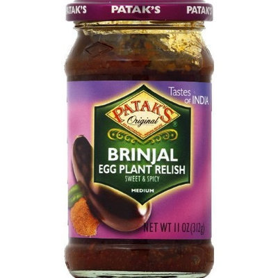 Pataks Patak's Brinjal (Egg Plant) Relish 11-ounce Jars (Pack of 6)