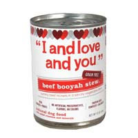 I & Love & You I and Love and You Beef Booyah Stew Dog Food - 13 oz