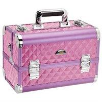 Shany Cosmetics Premium Collection Purple Diamond Makeup Train Case