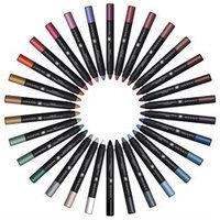SHANY Chunky Eye Shadow Pencil Eye Liner with Vitamin E & Aloe Vera - Set of 30 Colors