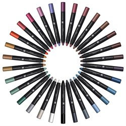 SHANY Chunky Eye Shadow Pencil Eye Liner with Vitamin E & Aloe Vera - Set of 30 Colors