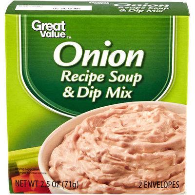 Great Value: Onion Recipe Soup & Dip Mix, 2.5 Oz
