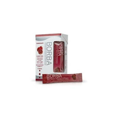 Borba Clarifying Aqua-less Crystalline Drink Mix-Pomegranate-14 ct