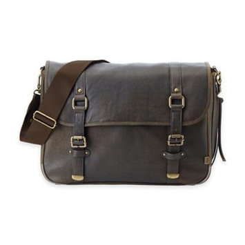OiOi Chocolate Leather Mens Messenger Brown - OiOi Diaper Bags