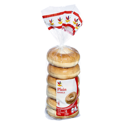 Ahold Plain Bagels - 6 CT