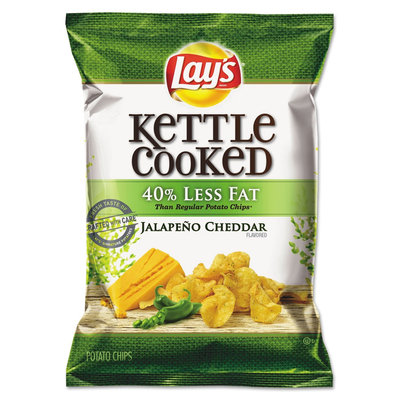 LAY'S® Kettle Cooked 40% Less Jalapeno Cheddar Flavored Potato Chips