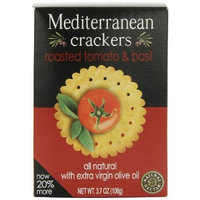 Natural Nectar Mediterranean Crackers, Roasted Tomato & Basil, 3.7-Ounce Packages (Pack of 12)