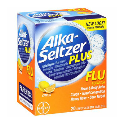 Alka-Seltzer Plus Citrus Flu Formula Tablets