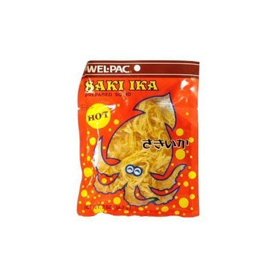 Wel-Pac Wel Pac Cuttlefish, Saki Ika Hot, 2-Ounce (Pack of 6)