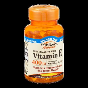 Sundown Naturals Vitamin E 400IU Softgels - 125 CT