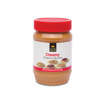 Clover Valley Creamy Peanut Butter, 18oz