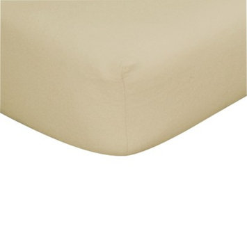 Trend Lab Tan Flannel Fitted Crib Sheet
