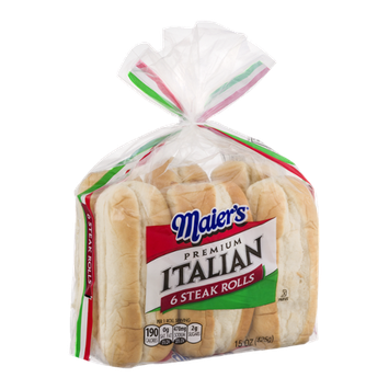 Maier's Premium Italian Steak Rolls - 6 CT