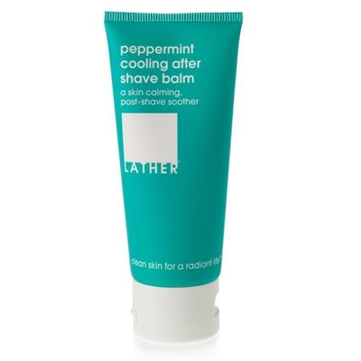 Lather HER Peppermint Cooling After Shave Balm, 2-Ounce Tube