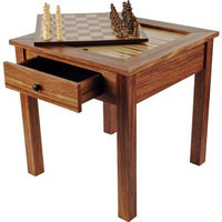 Trademark Games Wood 3 in 1 Chess Backgammon Table, Ages 7+, 1 ea