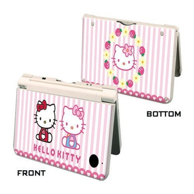 Pacers Hello kitty with Strawberry DSi XL skins decorative decals