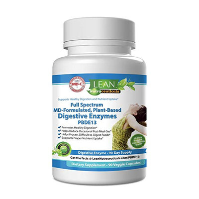 LEAN Nutraceutical Full Spectrum MD-Fomulated Plant-Based Digestive Enzyme Supplement