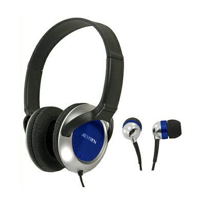 Jensen Stereo Headphone and Earbuds Combo JHP-100