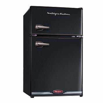 Nostalgia Electrics RRF325HNBLK Retro Series 3.1-Cubic Foot Compact Refrigerator Freezer