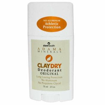 Zion Health Adama Minerals Clay Dry Deodorant Original 2.5 oz