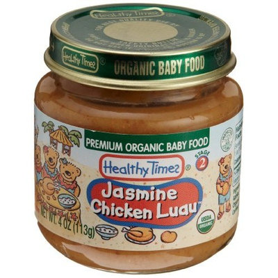 Healthy Times Premium Organic Baby Food, Jasmine Chicken Luau, 4-Ounce Jars (Pack of 24)