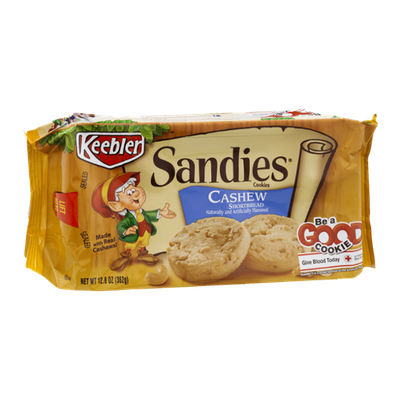 Keebler Sandies Cashew Shortbread Cookies